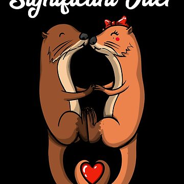 Significant Otter Couples Valentines Day Anniversary by underheaven