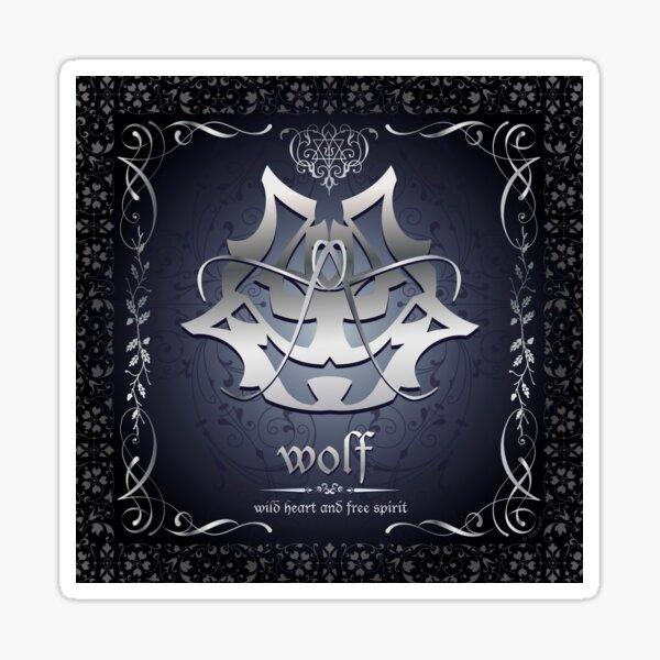 Wolf - wild heart - free spirit Sticker