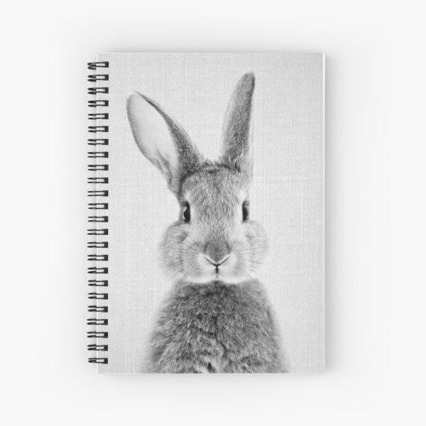 Rabbit - Black & White Spiral Notebook
