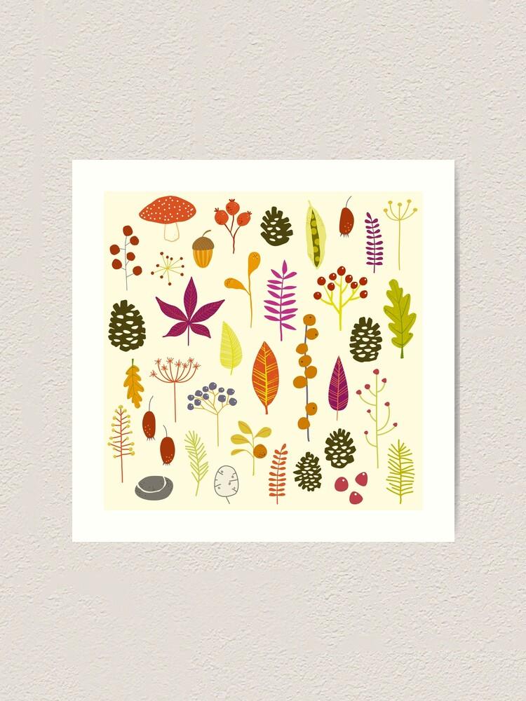 Alternate view of Autumn Fall Nature Bits Art Print