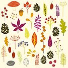 Autumn Fall Nature Bits by Nic Squirrell