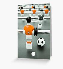 Table Football 02B - Defender | Orange Greeting Card