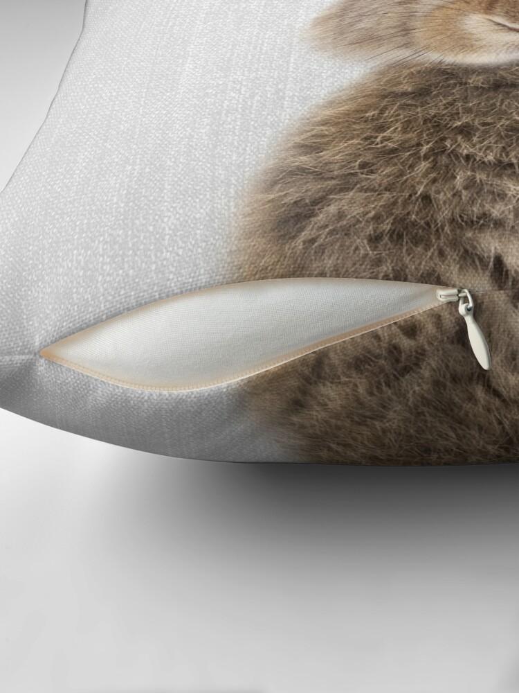 Alternative Ansicht von Kaninchen - bunt Dekokissen