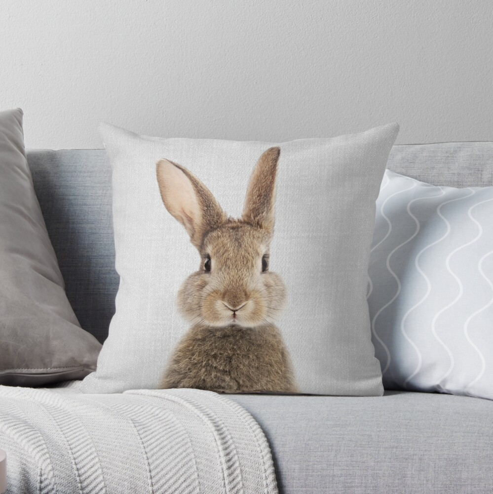 Kaninchen - bunt Dekokissen