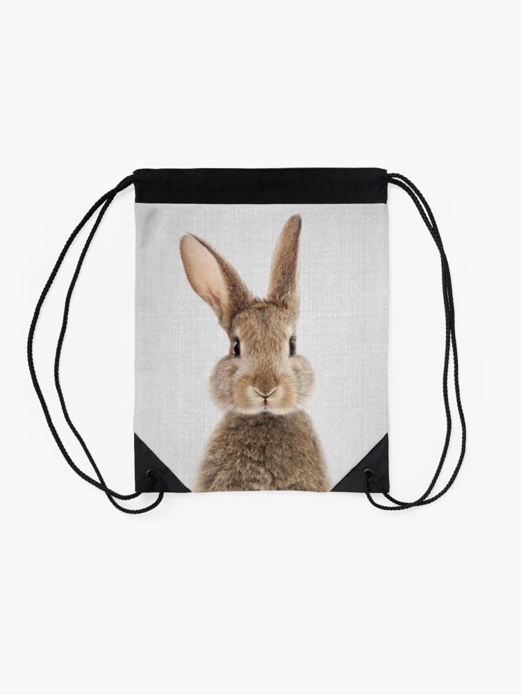 Alternate view of Rabbit - Colorful Drawstring Bag