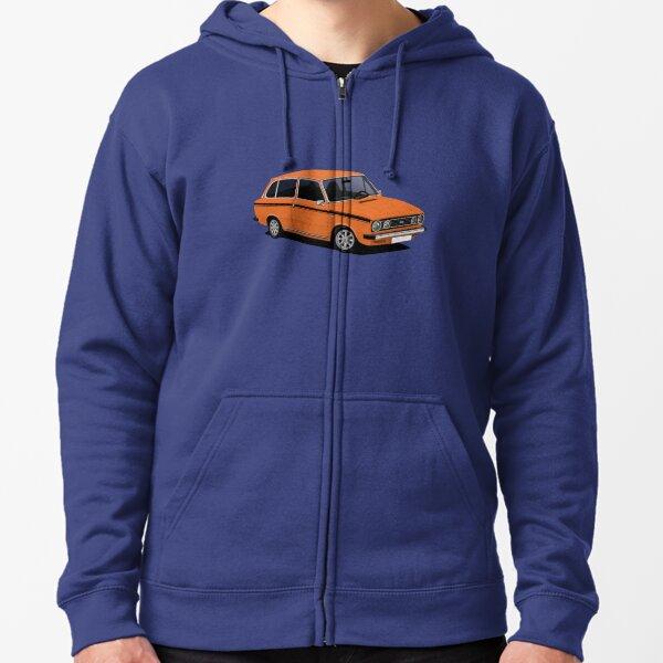 DAF 66 Combi - illustration - orange Veste zippée à capuche