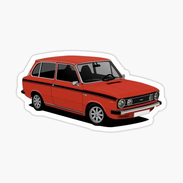 DAF 66 Combi - illustration - red Sticker