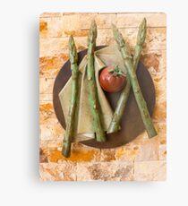 Asparagus and tomato Metal Print