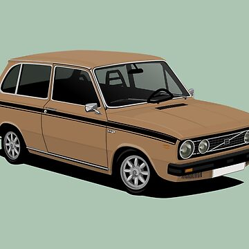 V 66 Combi - retro car illustration - brown by knappidesign