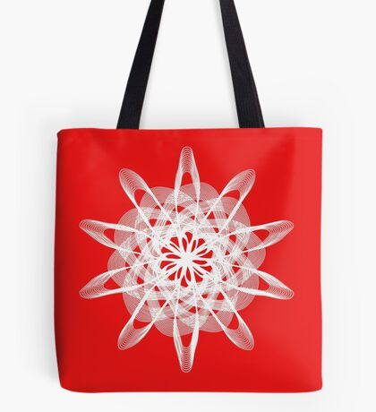 Spirograph with white Tote Bag
