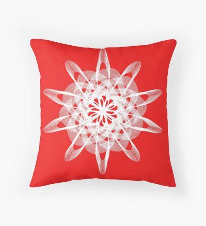 Spirograph with white Throw Pillow