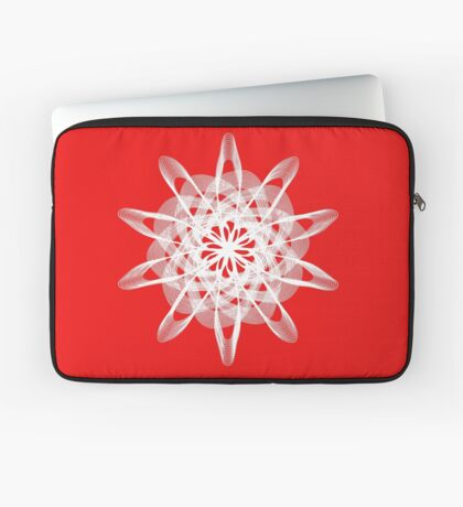 Spirograph with white Laptop Sleeve