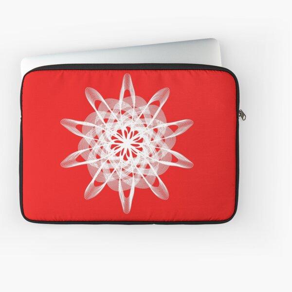 Spirograph Red White Laptop Sleeve