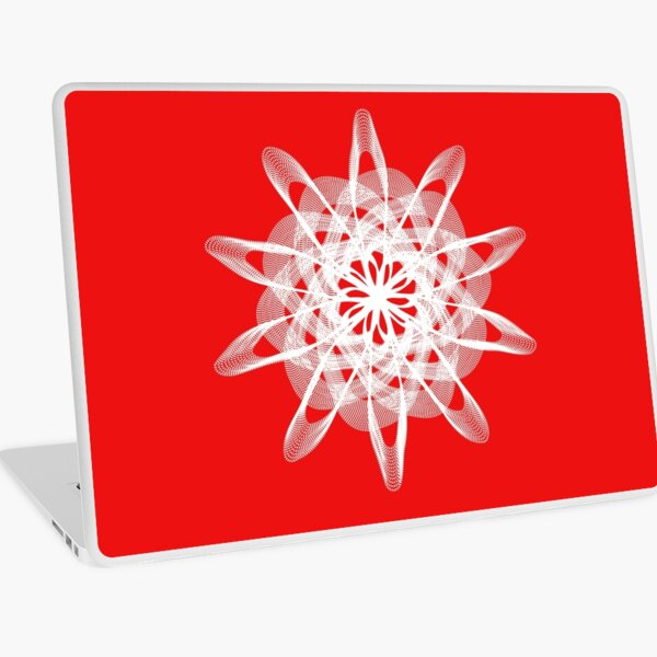 Spirograph with white Laptop Skin