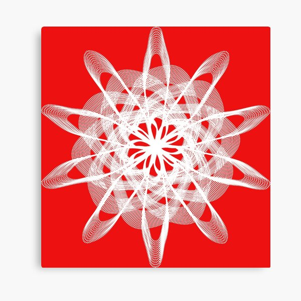 Spirograph with white Canvas Print