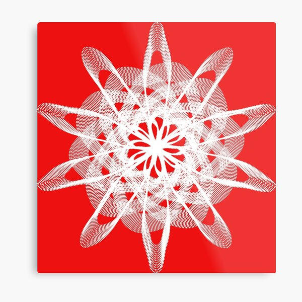Spirograph with white Metal Print