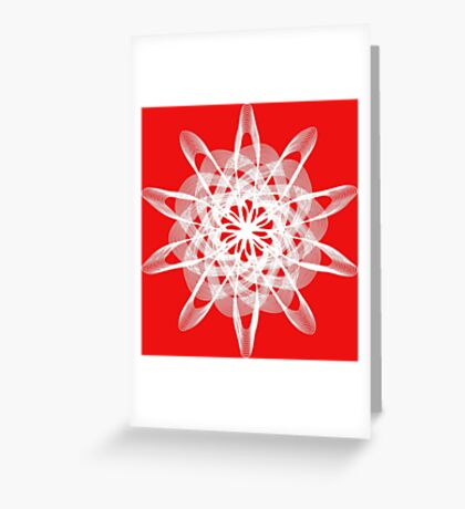 Spirograph with white Greeting Card