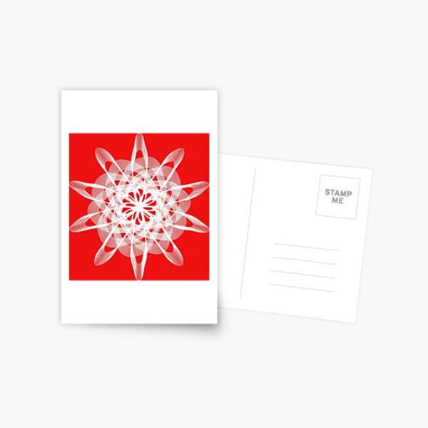 Spirograph with white Postcard