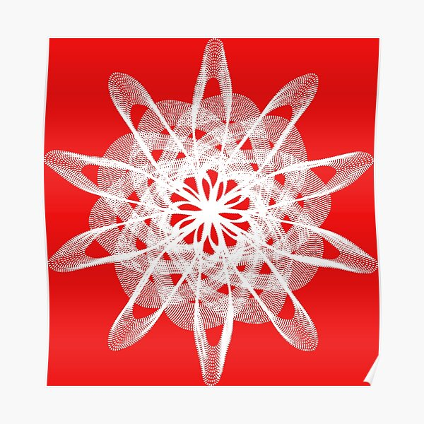 Spirograph with white Poster