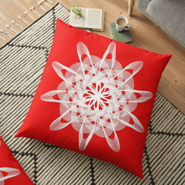 Spirograph with white Floor Pillow