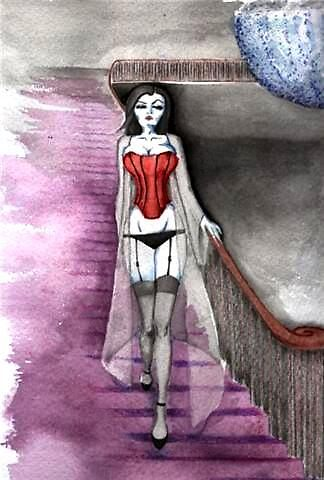 Gothic pin-up by StephMmm