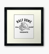 Yosemite National Park Half-Dome Framed Print