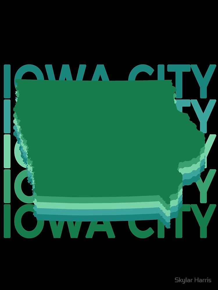 Iowa City IA Souvenirs Repeat Green by fuller-factory