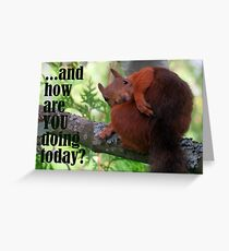 How Are You Doing Today Greeting Card
