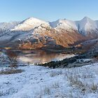 Five Sisters of Kintail and Loch Duich. Winter View. Mam Ratagan.Scotland. by Barbara  Jones ~ PhotosEcosse