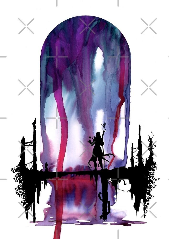 Fantasy dream illustration - Surreal watercolor digital artwork by zachholmbergart