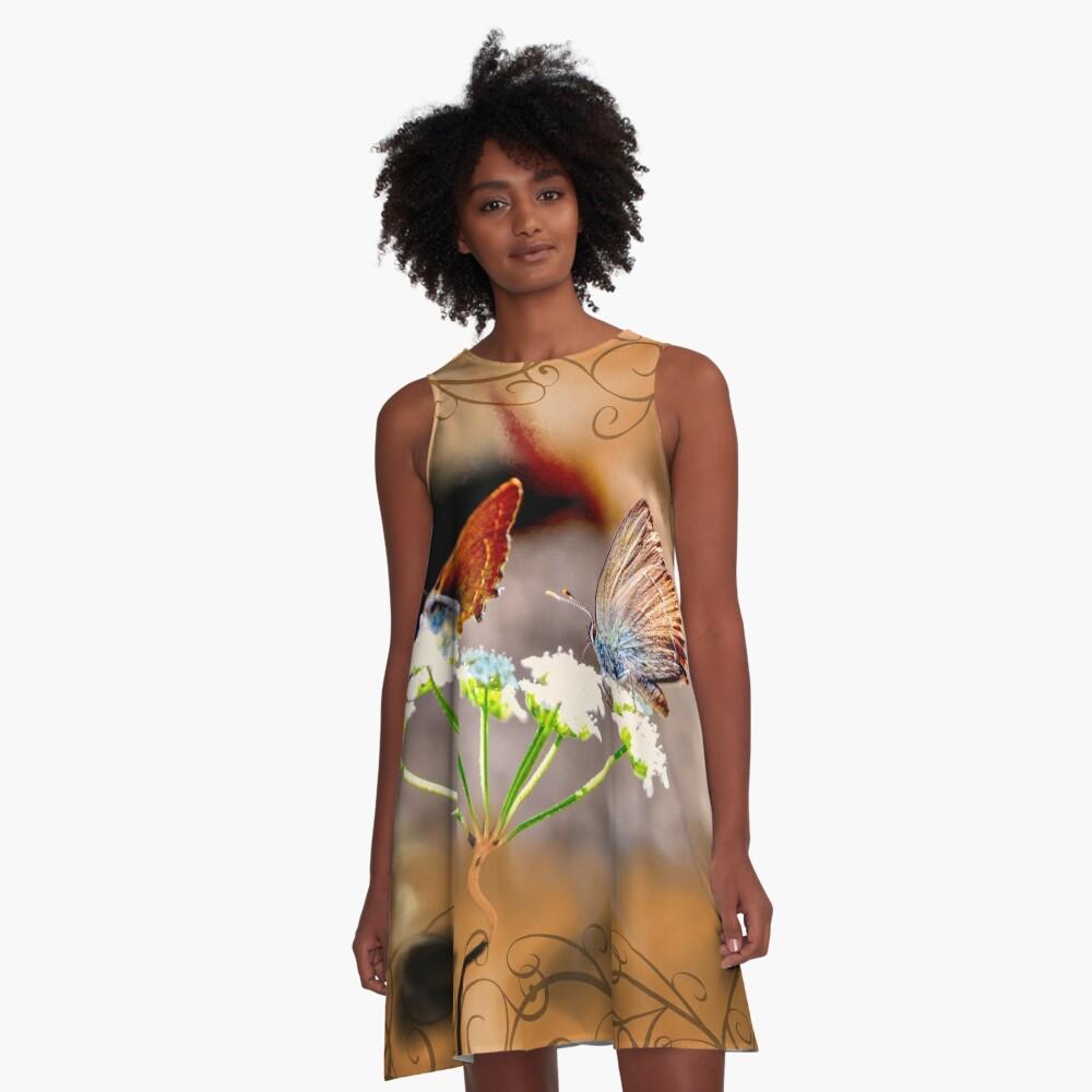 Luxury Butterflies A-Line Dress Front
