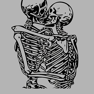 Kissing skeletons rib cage by skr0201