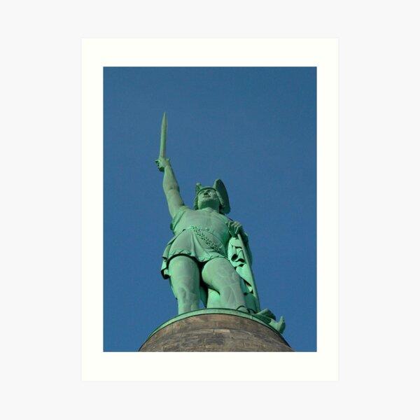 18 v.Chr. / 17 v.Chr. - 21 n.Chr.) War ein Häuptling der Cherusci, der eine römische Armee in der Schlacht des Teutoburger Waldes besiegte. Seine Stammeskoalition gegen das Römische Reich blockierte erfolgreich die Bemühungen von * Germanicus * Kunstdruck