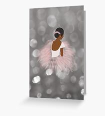 African American Ballerina Dancer Greeting Card