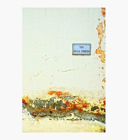 Via alla chiesa :: Church Street Photographic Print