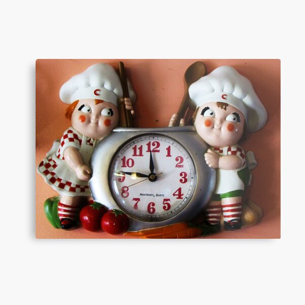 Campbell's Soup Kids Clock Metal Print