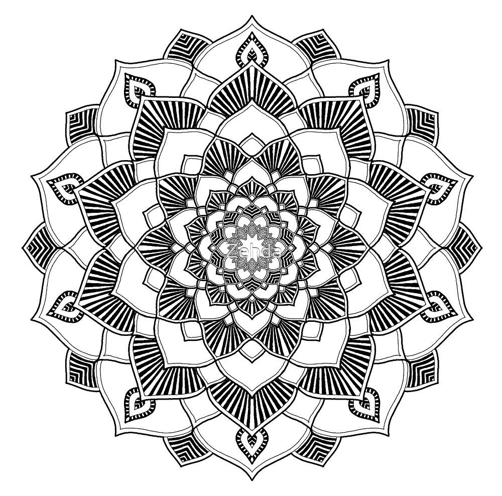 Mandala Universe Symbol by Zehda