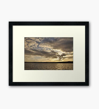 A perfect end to a wonderful day. Framed Print
