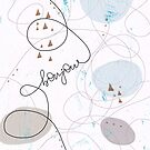 Minimalist Bonjour Organic Abstract Curves and Shapes by oursunnycdays