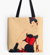 Red Corset Tote Bag