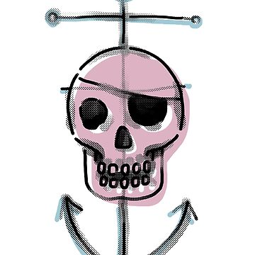 Pirate Eye Patch Skull Anchor Nautical by GarnetLeslie