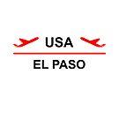 El Paso USA Airport Plane Light-Color by TinyStarAmerica