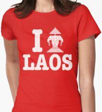 I Erawan (Love) Laos Womens Fitted T-Shirt