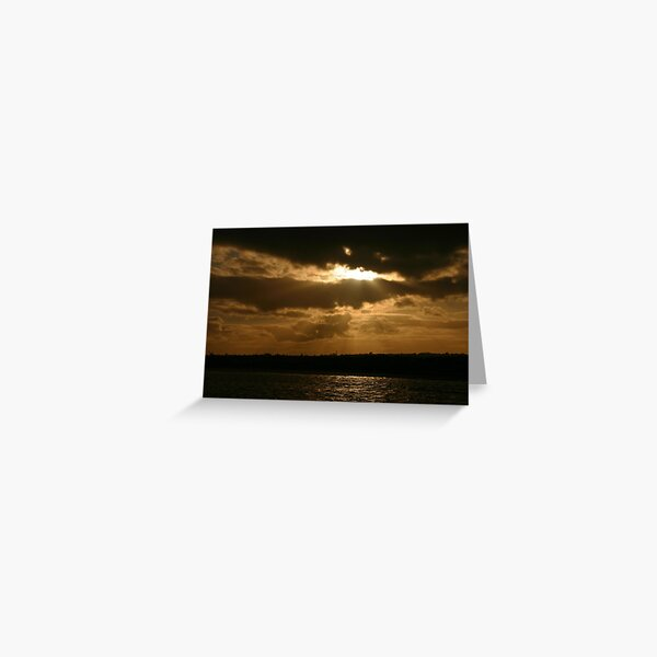 Scary sky at Skerries Greeting Card