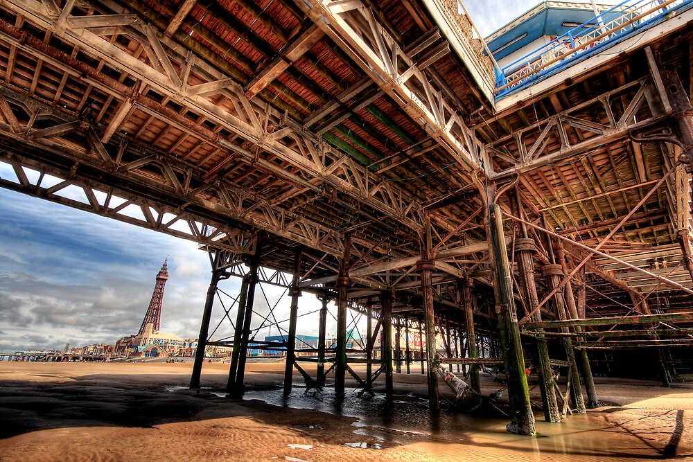 Life below the Pier, Blackpool by Robin Whalley
