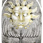 Tarot: The Sun - ink illustration  by Donata Zawadzka