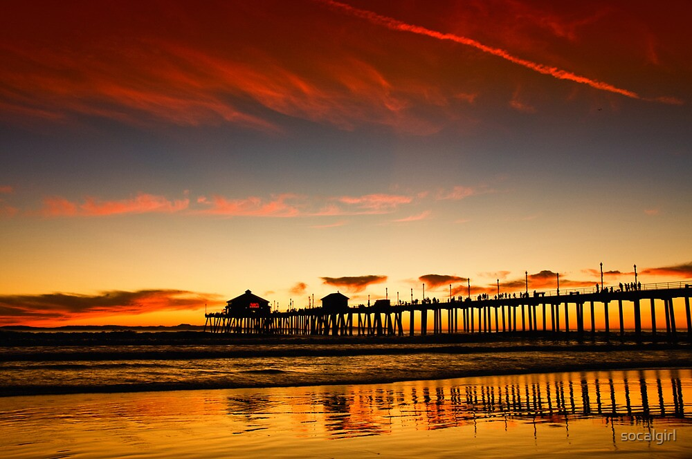 Red sky at sunset by socalgirl