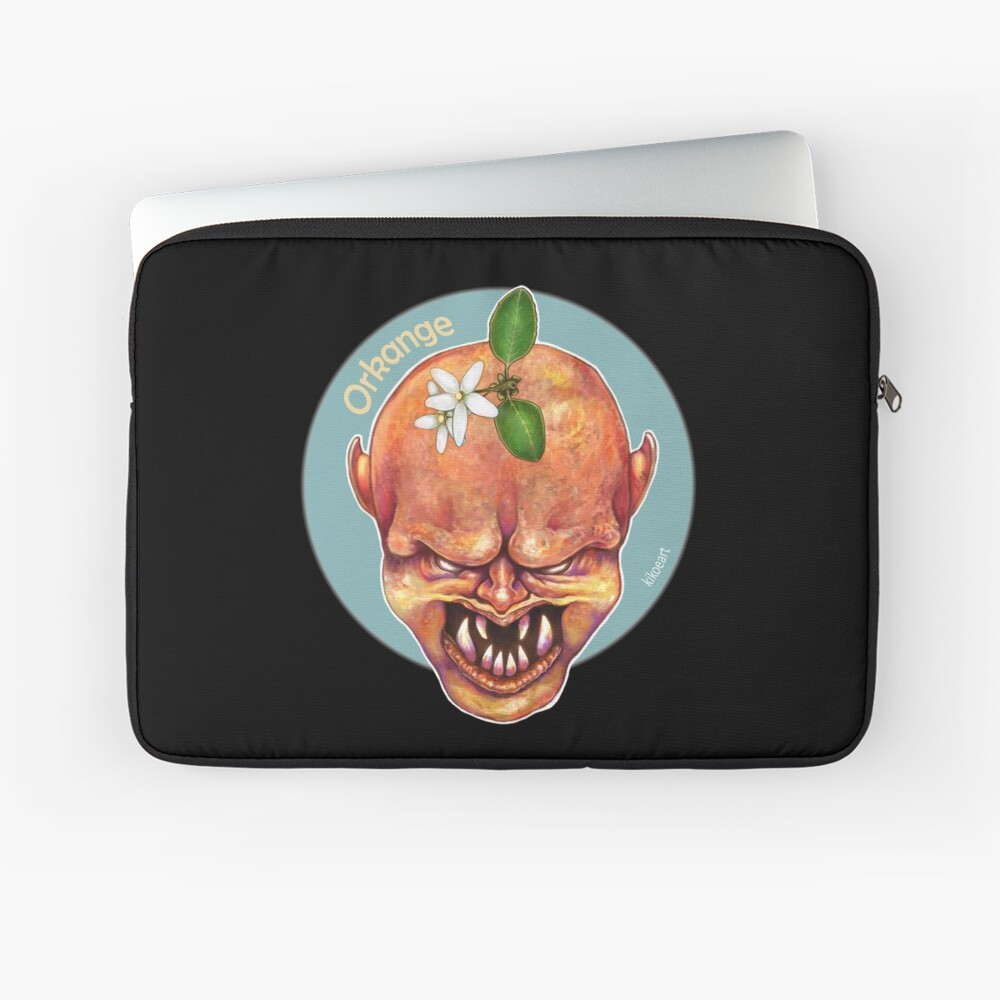 O is for Orkange - Alphabet of Haunted Food Laptop Sleeve Front