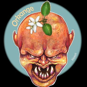 O is for Orkange - Alphabet of Haunted Food by kikoeart