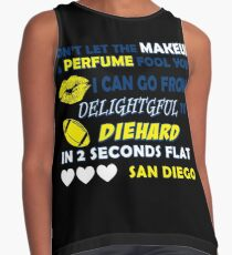 Don't let the makeup and perfume fool you I can go from delightful to diehard Contrast Tank